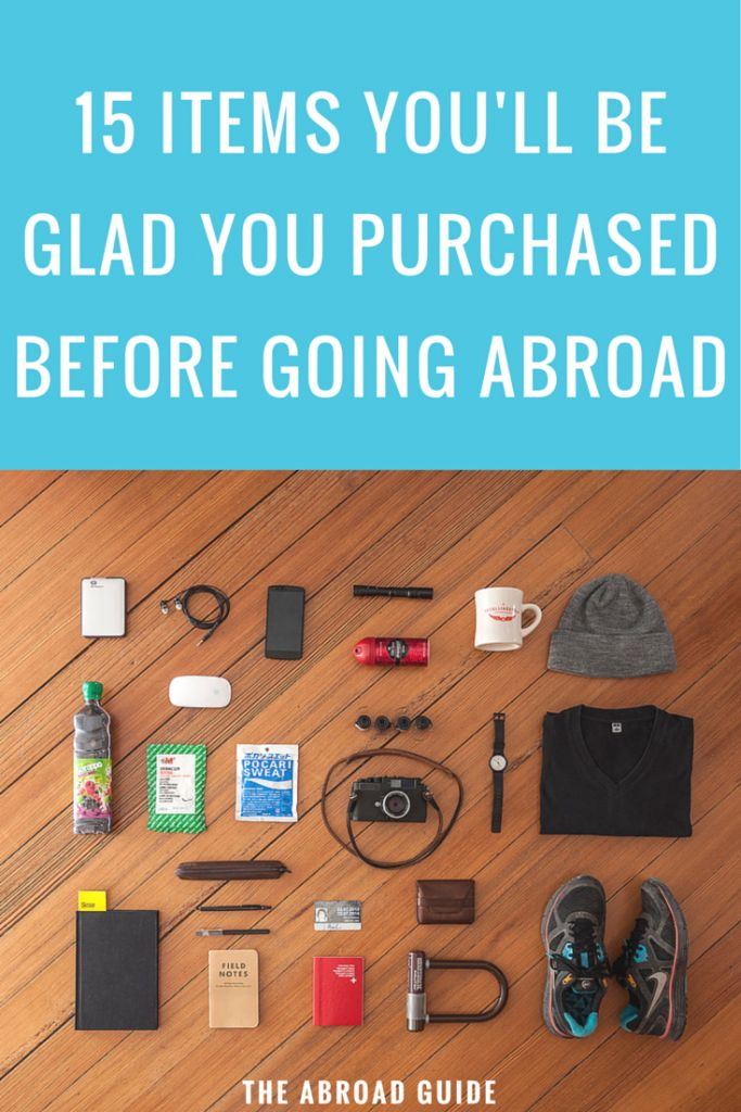 If you're studying abroad soon, you've probably forgotten some of these important items. 15 Items You'll Be Glad You Purchased Before Study Abroad
