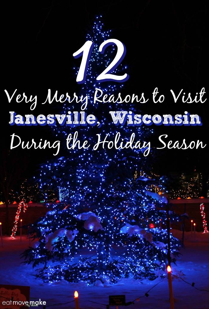 Very merry reasons to visit Janesville, Wisconsin during the holiday season. It's the Midwest's magical winter wonderland! USA
