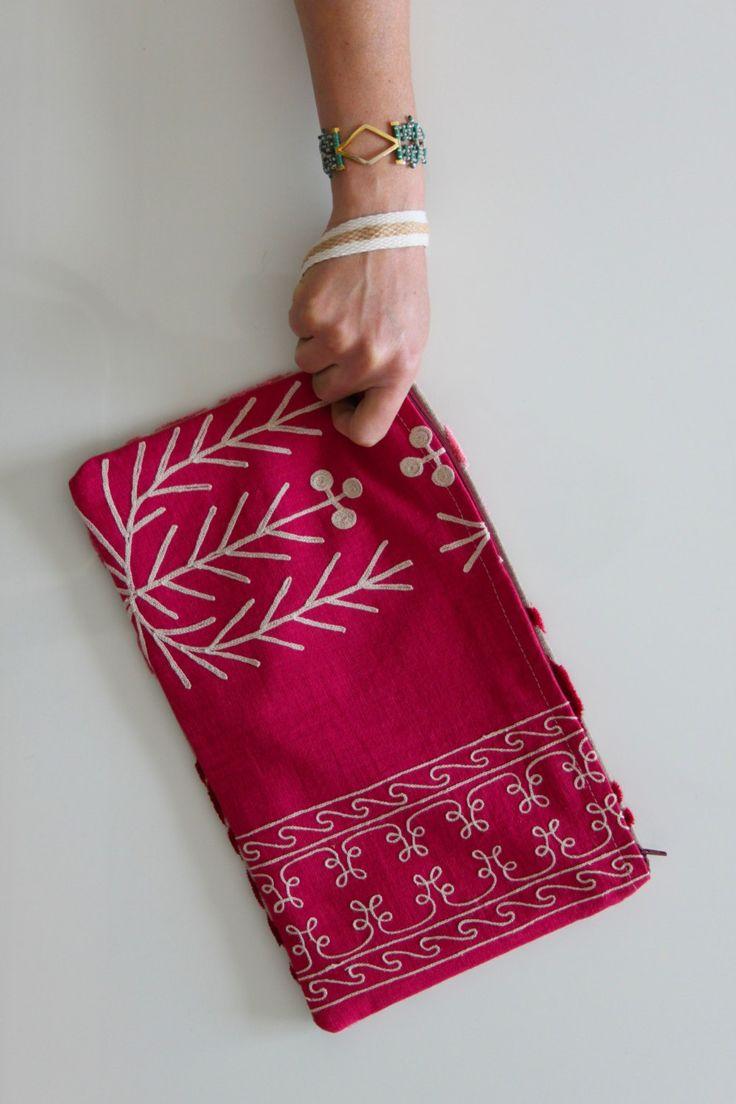 Kothi 2-sided wristlet/clutch by FabofABag on Etsy