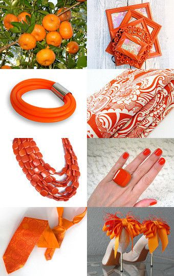Tangerine finds by Gaia Salatino Ghirardi on Etsy--Pinned with TreasuryPin.com
