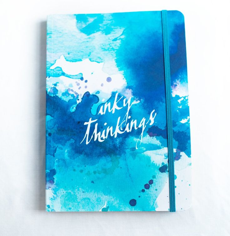 """Inky Thinkings"" A5 Notebook."