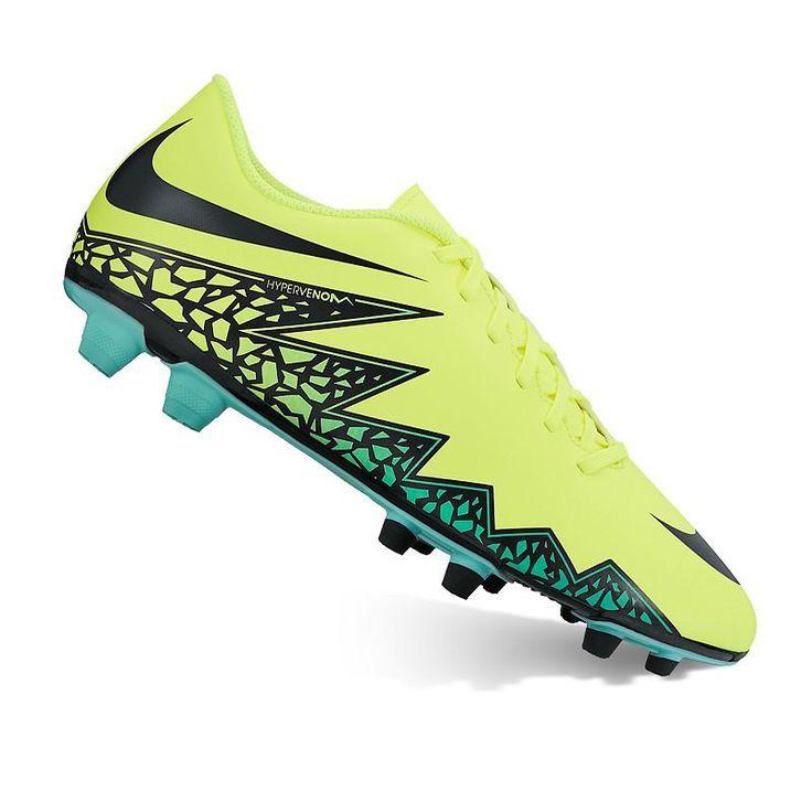 Nike HyperVenom Phade II Firm-Ground Men's Soccer Shoes, Size: 11.5, Drk Yellow