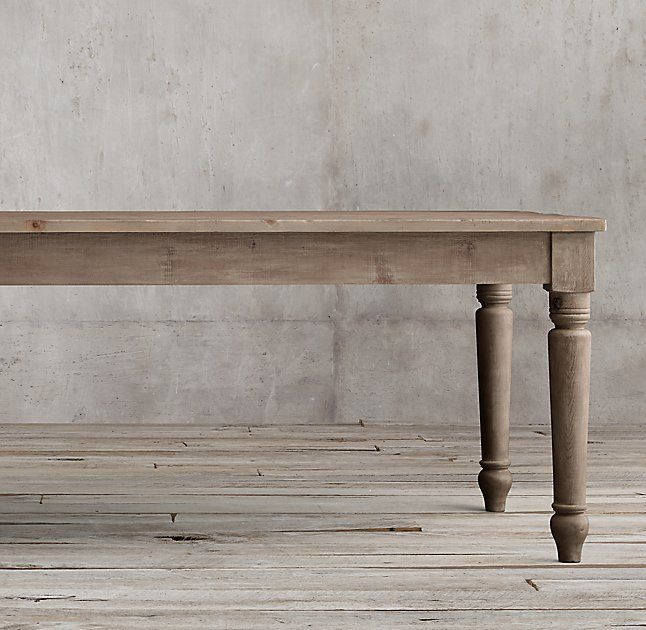 19th C. English Farmhouse Rectangular Dining Table. Restoration Hardware.