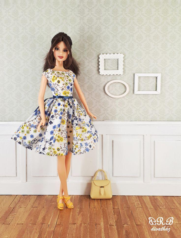 Handmade Barbie doll clothes 100% silk