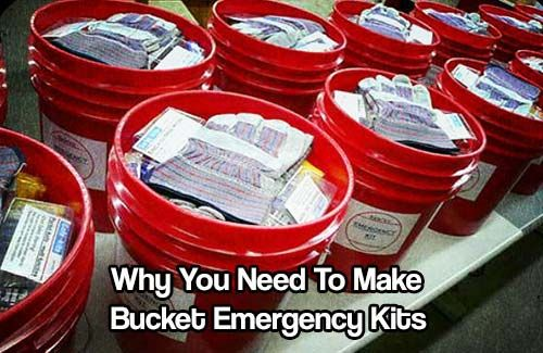 Why You Need To Make Bucket Emergency Kits. Cheap and east to make, these survival buckets can give you the edge and ensure your survival.