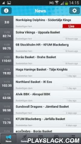 Basketappen Live!  Android App - playslack.com , Some of the exciting features of this app:• Live scores• News and interviews• Video highlights• Coverage of Men's, Women's and other national leagues• Competition details (schedule, standings, leaders)• User interaction via social networksThe app has been specially designed for basketball fans and sports media professionals. Download the app and start following Live scores, news and videos of your favorite teams and basketball players.