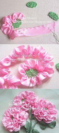 Flores en tela fáciles                                                                                                                                                                                 Más