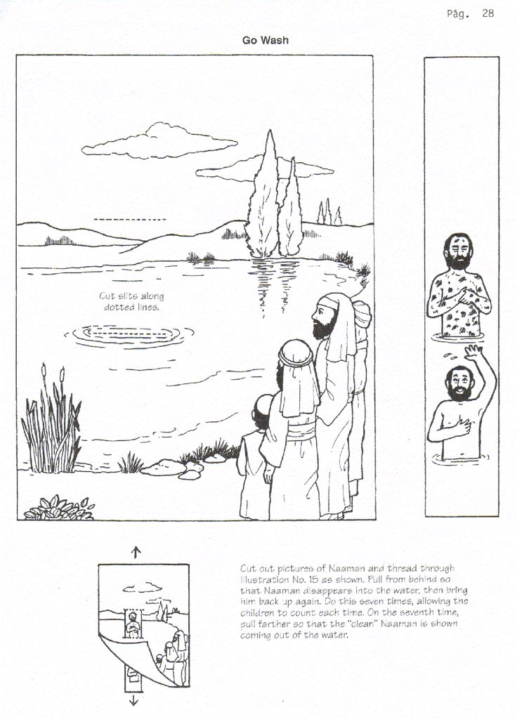 coloring pages naaman being healed - naaman healed of leprosy craft 2 kings 5 free printable