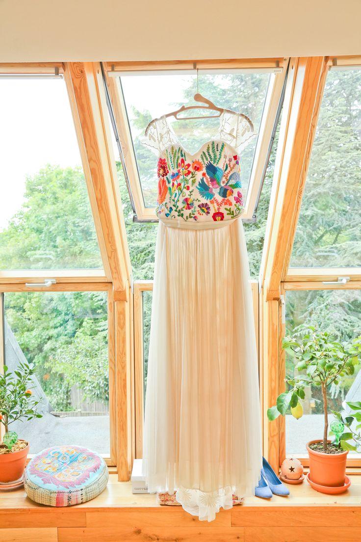 My handmade Mexican Folk Wedding Dress