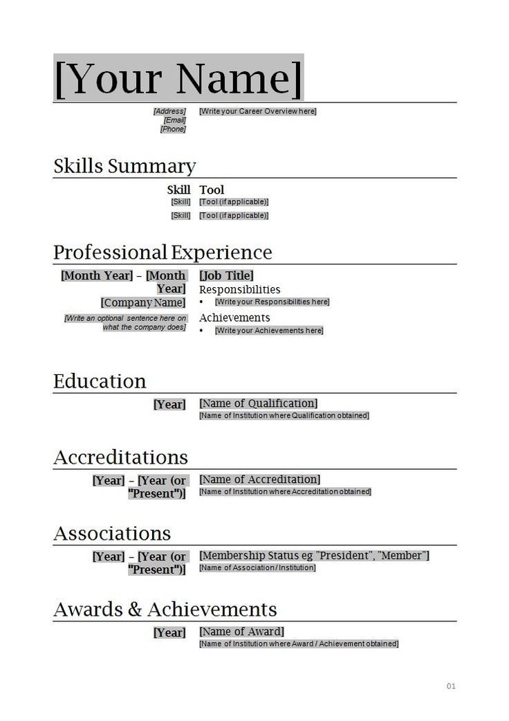 sample resume format word resume format and resume maker