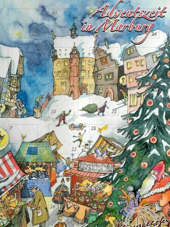 One of our favorite holiday traditions: Adventszeit im Marburg--from Konditorei Cafe Klingelhöfer
