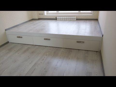 Кровать подиум своими руками - YouTube