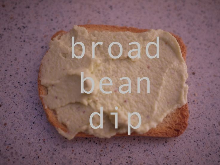 Broad bean dip - great for using up a glut of beans