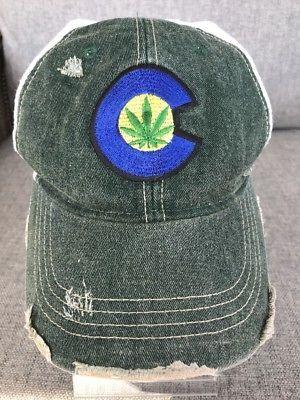 5a6aa3c03a1 Rocky Mountain High Marijuana Weed Trucker Hat Cap Maryjane Destroyed  Distressed