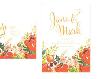 Printable Wedding Invites Illustrated Couples by heartandfox