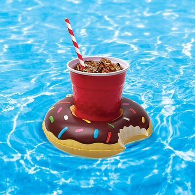 Add some sweetness to your next pool party with our Donut You Know It They Float! Beverage Boats.  Meant for dips in the pool, not your morning cup o' joe, these nom-worthy beverage boats keep your standard size drink afloat with unbeatable flair!    Sold as a 3-pack, each package contains three frosted + sprinkled donuts; strapless strawberry, chug chug chug chocolate and better believe it berry.  Great for in the pool or hot tub!   Includes one quarter dozen drink floaties in all 3…