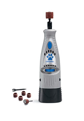 No matter what kind of super spiffy pet products you need, we've got you covered. Here we have: A special kind of nail trimmer, it grinds down your dogs nails instead of cutting straight through. It helps prevent cutting through or damaging the quick because you can keep far better track of what you're doing and ultimately have better control.