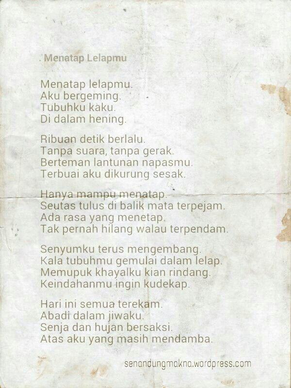 Menatap lelapmu #puisi #Indonesia