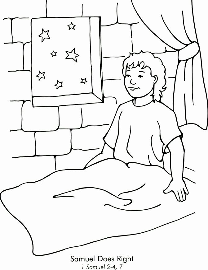 32 Samuel Anoints David Coloring Page Bible Crafts Sunday