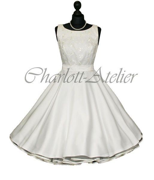 50er petticoat kleid hochzeit brautkleid wei von charlott. Black Bedroom Furniture Sets. Home Design Ideas