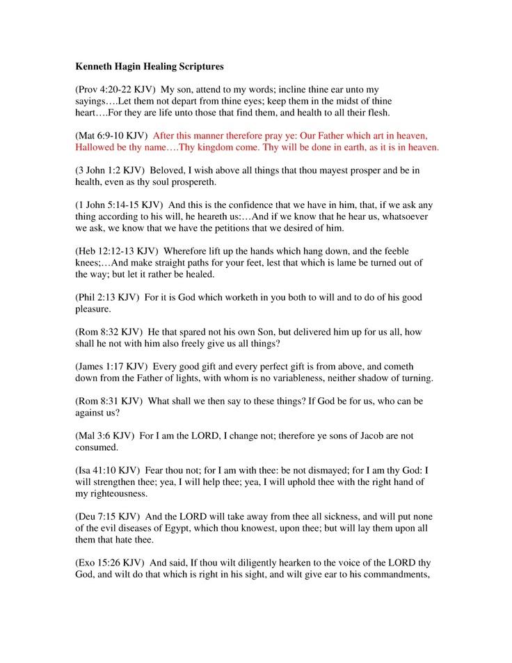 kenneth-hagin-healing-scriptures by ludo694 via Slideshare