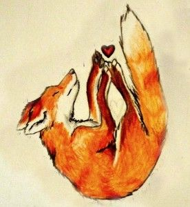 Эскизы тату лиса   | ТриТатушки