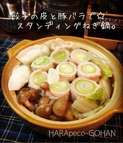 餃子の皮と豚バラで☆スタンディングねぎ鍋。 by shinke☆さん ...