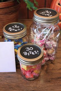 Uncle Matt's 30th: '30 sucks!' lollipops, '30 blows!' gum and '30 bites!' candies