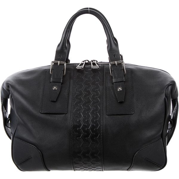 Pre-owned Belstaff Ashley Tread Satchel (1 280 BGN) ❤ liked on Polyvore featuring bags, handbags, black, genuine leather handbags, leather satchel handbags, man bag, handbag purse and real leather purses
