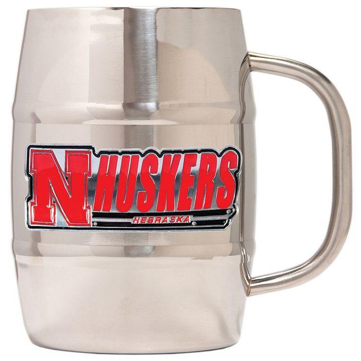 Nebraska Cornhuskers Stainless Steel Barrel Mug, Multicolor
