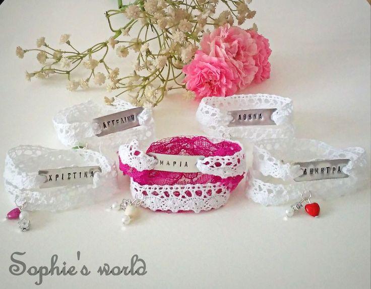 βραχιόλια για την νύφη & τις φίλες της! χειροποίητα με χάραξη #bachelorette #bracelets #wedding #accessories #bride #bridetobe #friends #bachelorparty https://www.facebook.com/Sophies-world-712091558842001/