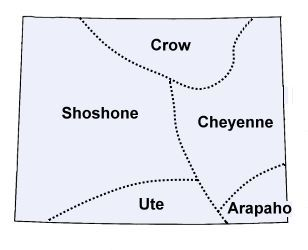 The Native Americans Tribes of Wyoming.