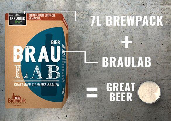 Mit unserem Bierbrauset Dein eigenes individuelles und qualitatives Bier brauen. Mit Videos und Anleitung! Braulabs, Nachfüllpakete, Zubehör & Gutscheine