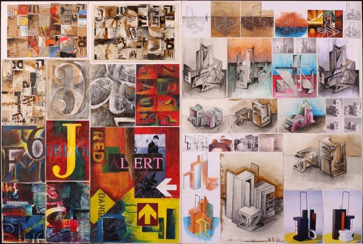 paintings of sculptures