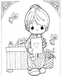 Kids Coloring Pages: Drawings of Precious Moments