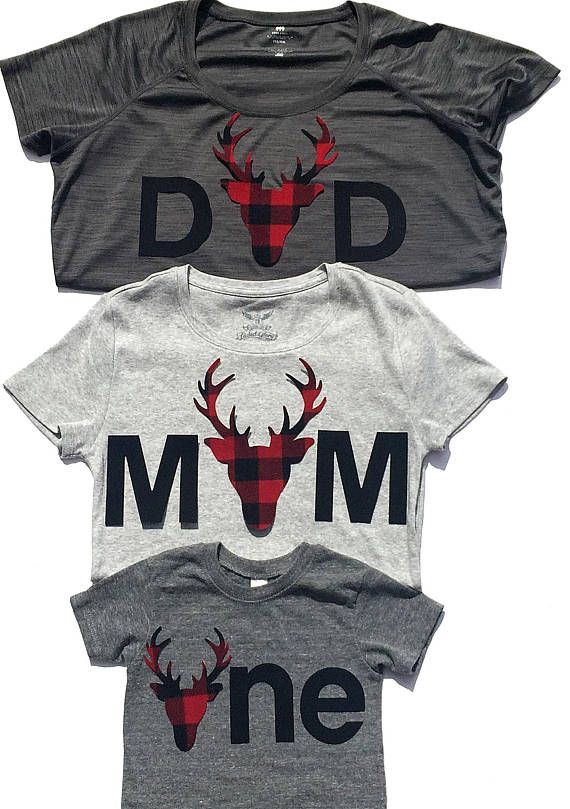 abc025065 This is the perfect lumberjack/woodland applique set for mom,dad, sis & bro  to match the one year old birthday boy! These will make great Christmas  shirts ...