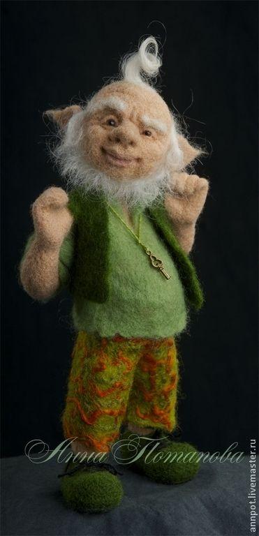 Лепрекон - зелёный,лепрекон,старичок,денежный талисман,денежный,забавный подарок