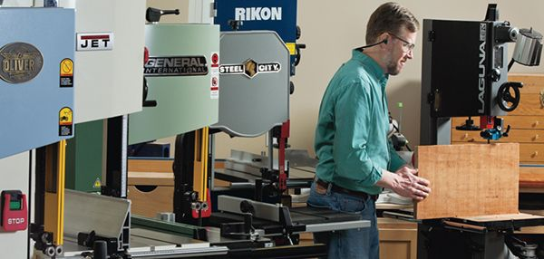 14-in. Band Saw Reviews. The benefit of steel-frame rigidity is now extending to many smaller band saws that run on 110 volts. How well do they work? We find out.