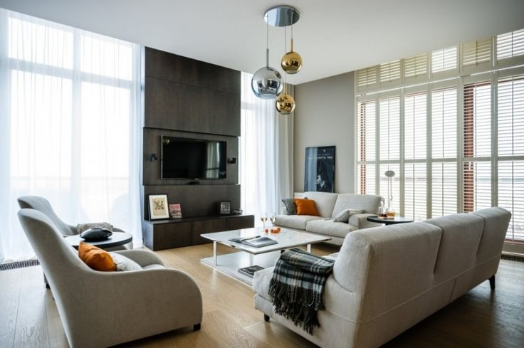 wohnzimmer lampe modern high tech and high end apartment in warsaw ...