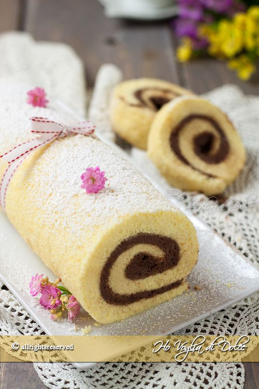 rotolo crema al mascarpone e cioccolato ricetta facile