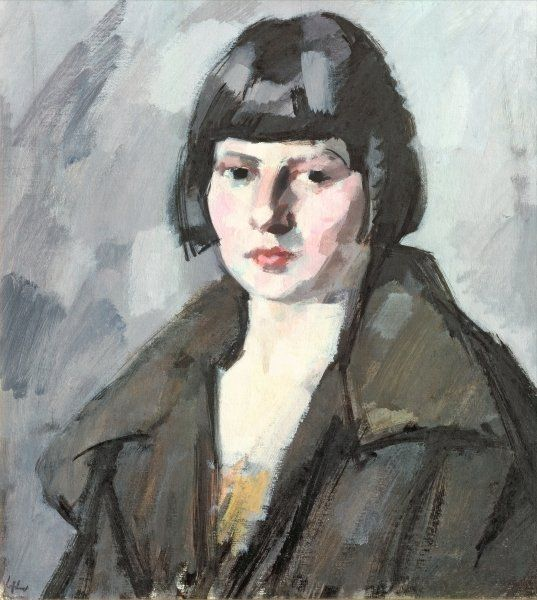 Head of a Young Girl, c.1920  by Samuel John Peploe (Scottish 1871-1935)