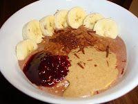 καθαρή διατροφή: Σοκολατένια κρέμα βρώμης με μπανάνα