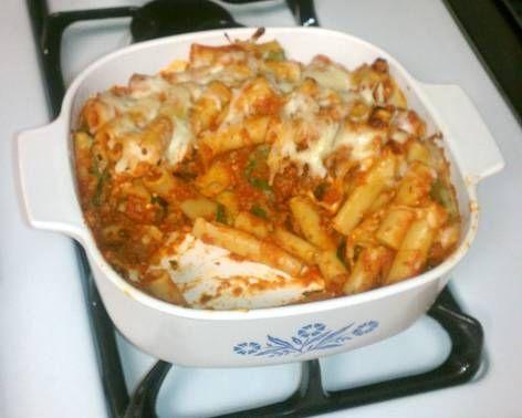 Lasagna-Style Baked Ziti recipe | yum | Pinterest | Baked Ziti, Baked ...