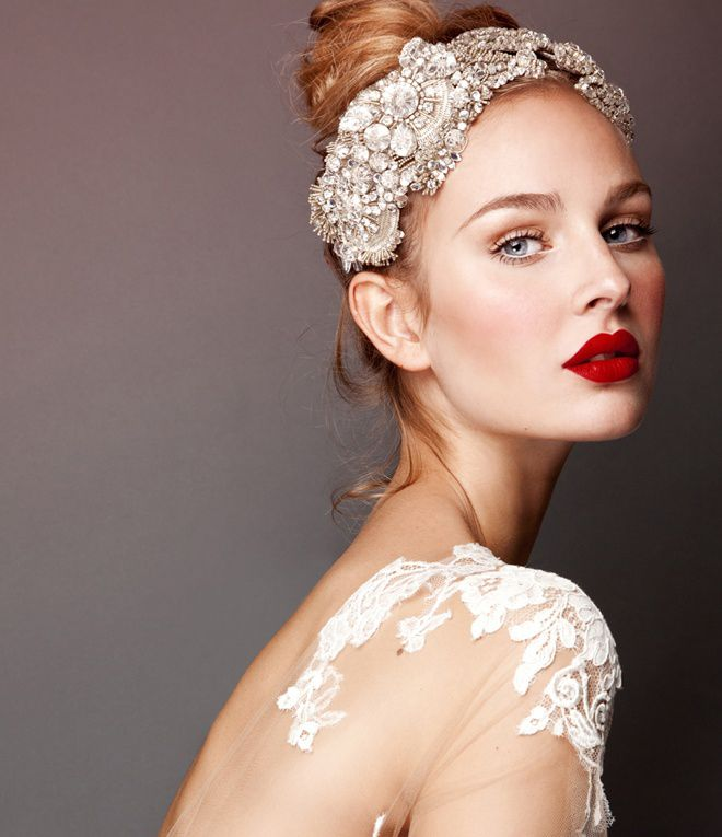 Bridal Makeup Looks with red lips. bridaliciousbootcamp.com.au