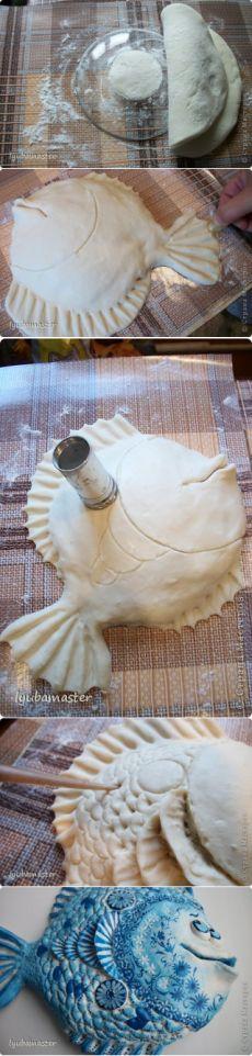 """Θαλάσσια ψάρια """"για καλή τύχη"""" από ζυμάρι αλατιού - Χειροτεχνία"""