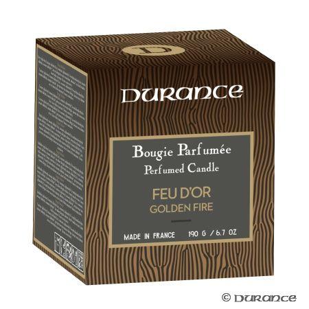 Bougie Naturelle Parfumée Feu d'Or - Durance