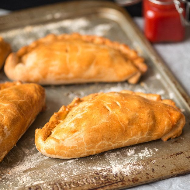 Pasties stuffed with potato and steak. | 26 Make-Ahead Foods Perfect For A Spring Picnic