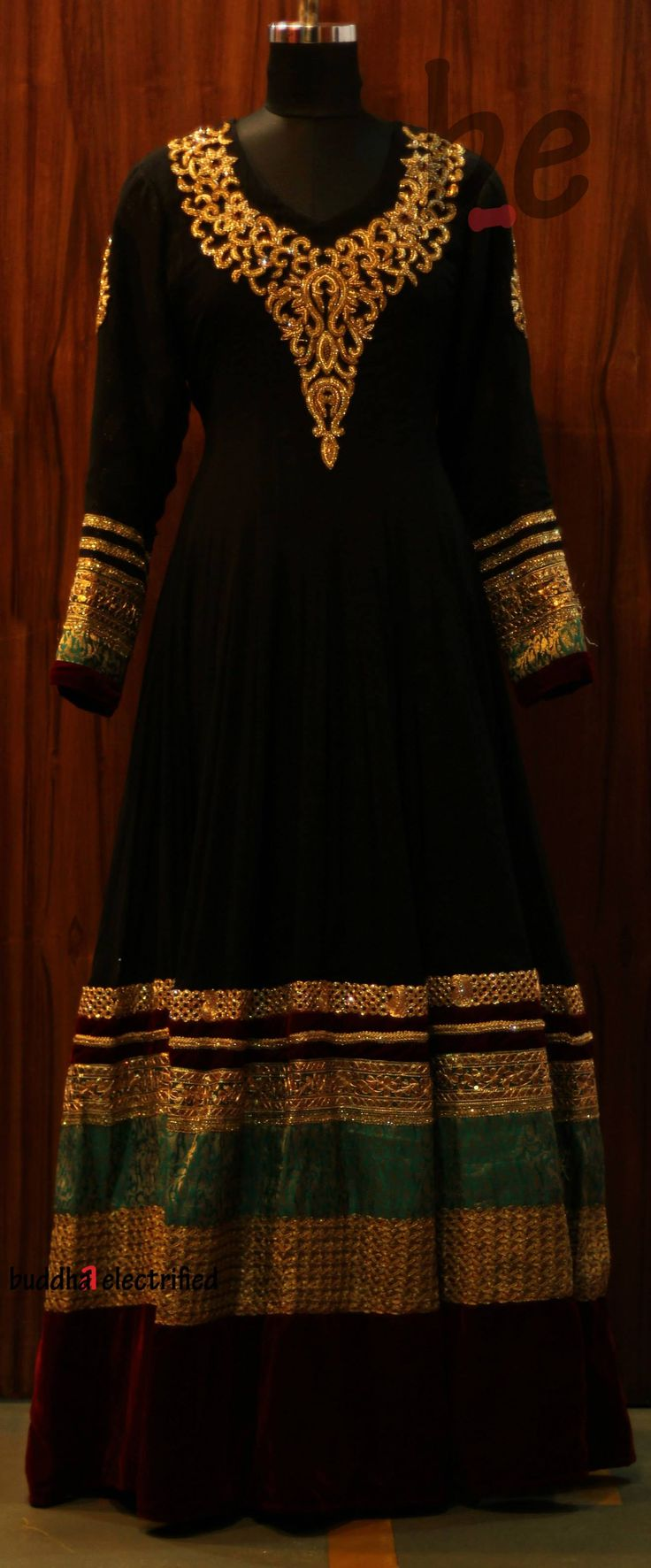Beautiful Black Anarkali