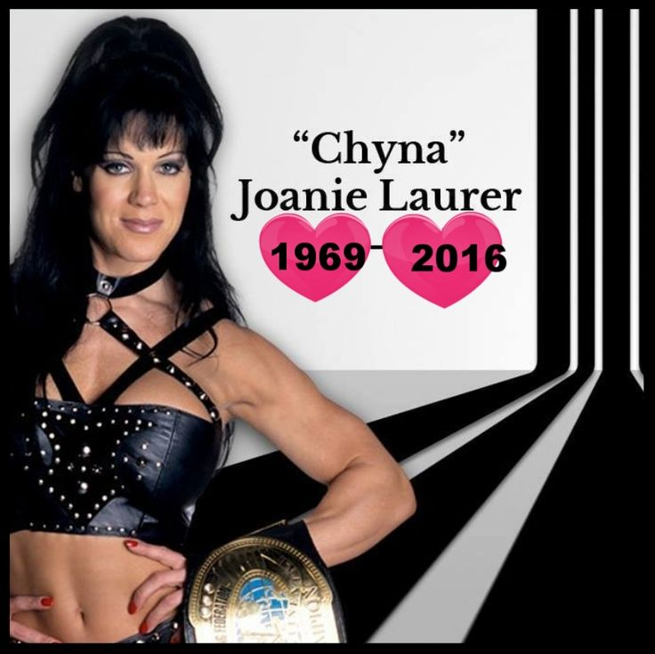 "Joanie Marie Laurer, December 27, 1969-April 20, 2016. Better known as Chyna, the ""Ninth Wonder of the World."" Entertainer as a wrestler for the WWF. Actress. Also, spokesperson. Chyna held the WWF Intercontinental Championship belt twice."