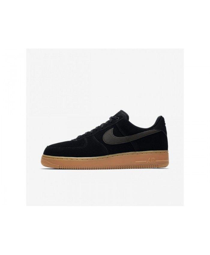 the latest 4e795 0dd3f Bargain Nike Air Force 1 07 LV8 Suede Men s Black Gum Medium Brown Ivory Black  Shoes, AA1117-001